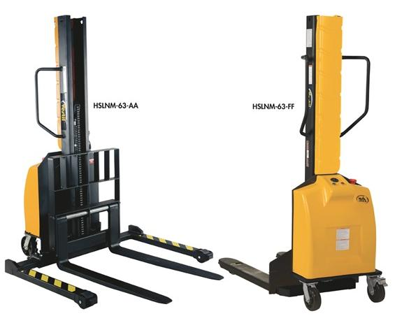 NARROW MAST STACKERS WITH POWERED LIFT