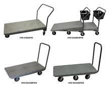 NESTING AND NON-NESTING FLATBED CARTS